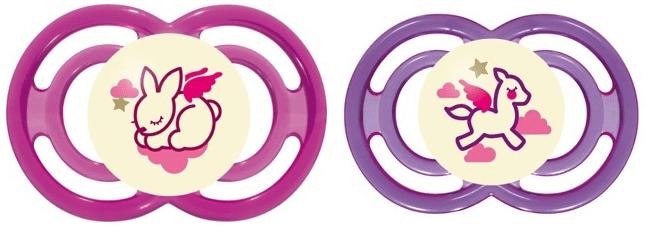 MAM Dudlík Perfect Night 6+m - 2 kusy růžová/fialová