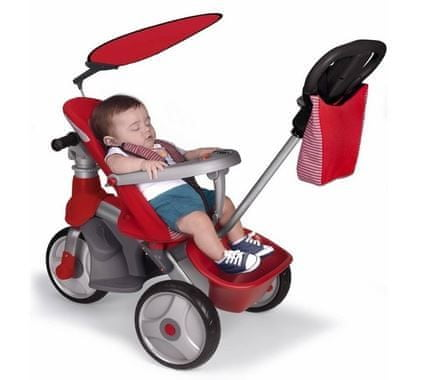 Feber tricikel Easy Evolution, rdeč