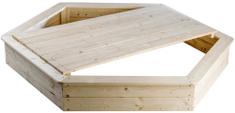 Teddies Piaskownica naturalna drewniana średnica 160cm