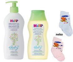HiPP Babysanft Sprchový gel 400ml + Přírodní pleťový olej 200ml + Kojenecké ponožky 1 pár