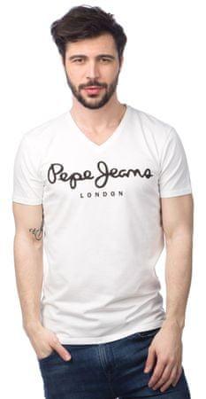 Pepe Jeans moška majica Original Stretch V L bela