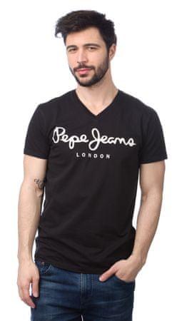 Pepe Jeans moška majica Original Stretch V L črna