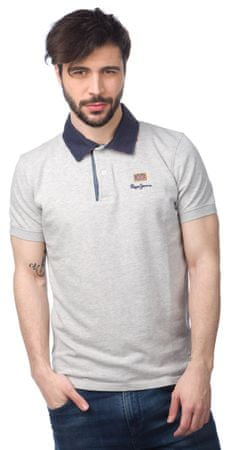 Pepe Jeans pánská polokošile Esteban New XL šedá