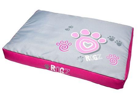 Rogz pasje ležišče Flat Podz Pink Paws, XL