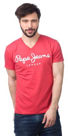 Pepe Jeans moška majica Original Stretch V L rdeča