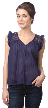 Pepe Jeans ženske bluzo Echo XL modra