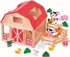 BINO Drewniana farma ze zwierzątkami 82221