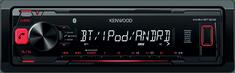 Kenwood Electronics KMM-BT302 Autórádió (Bluetooth kapcsolat, USB/AUX csatlakozás, FLAC lejátszás, Levehető előlap)
