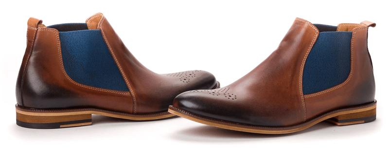 PAOLO GIANNI pánská kotníčková obuv 44 hnědá