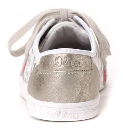 s.Oliver dámské tenisky s potiskem 38 bílá  5bc5d86140