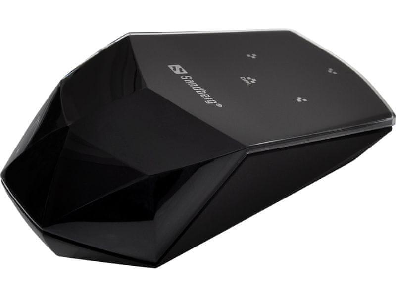 Sandberg Wireless Touch Mouse, bezdrátová dotyková optická myš, 1600dpi, černá (630-04)