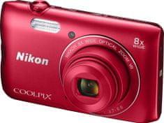 Nikon Coolpix A300 Red Lineart - II. jakost