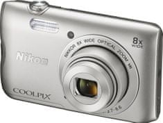 NIKON Coolpix A300 Digitális fényképezőgép Ezüst outlet