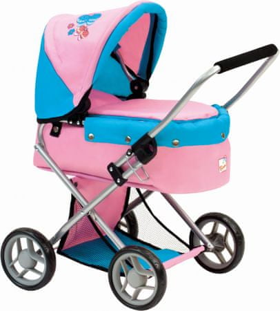 BINO Wózek dla lalek z motylkami 82917