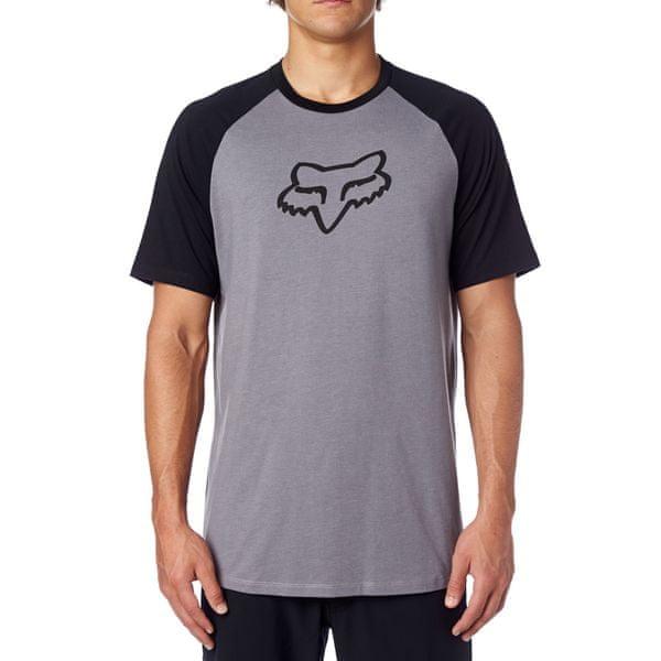 FOX pánské tričko Eternal Ss Raglan S šedá