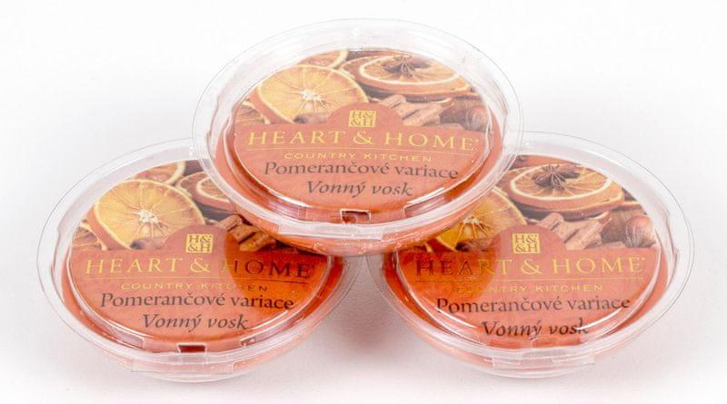 Albi Heart & Home vonné vosky 3 ks Pomerančové variace