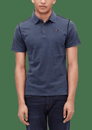 s.Oliver férfi galléros póló S sötétkék
