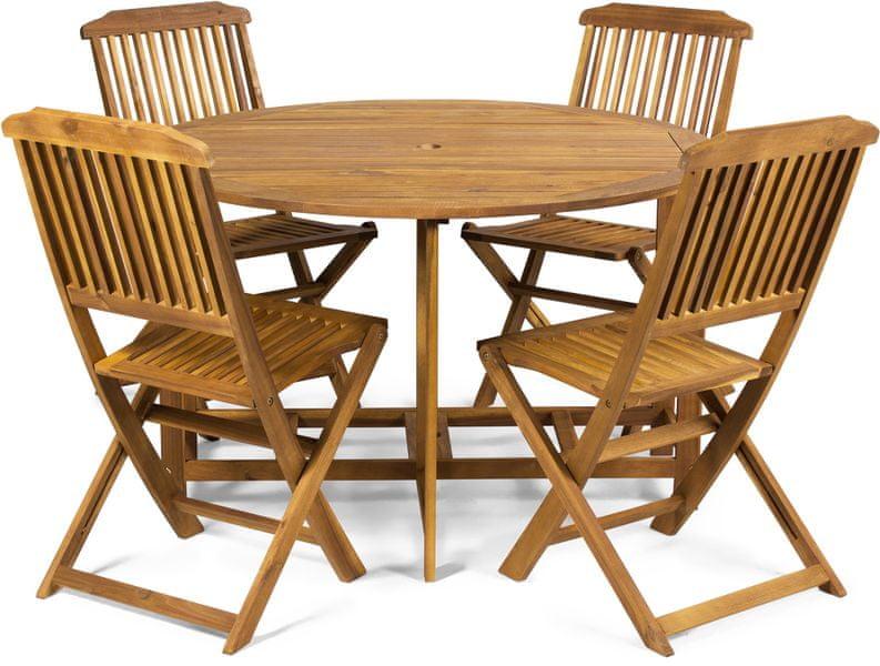 Fieldmann Sestava Holly - stůl a 4 židle