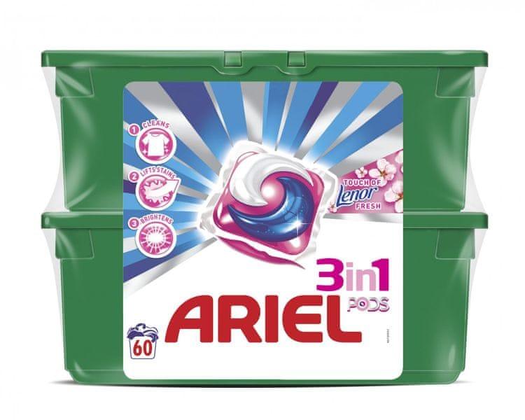 Ariel Touch of Lenor prací kapsle 60 ks