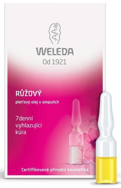 Weleda Růžový pleťový olej v ampulích - 7-denní vyhlazující kúra