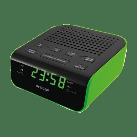 SENCOR radiobudzik SRC 136, zielony/czarny