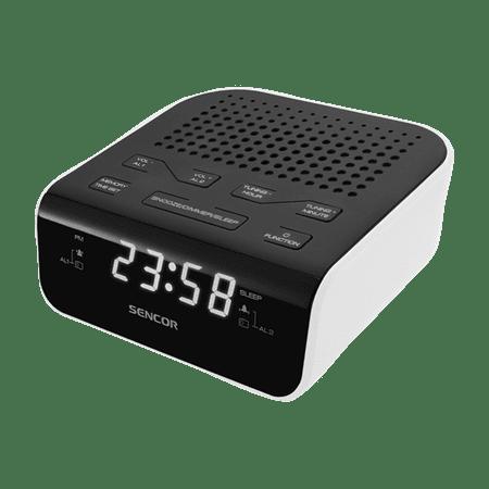 SENCOR radiobudzik SRC 136, biały/czarny