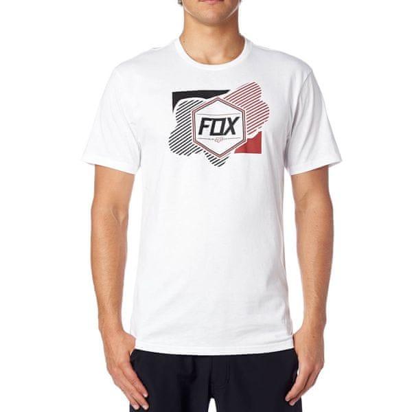 FOX pánské tričko Symmetrical Ss S bílá