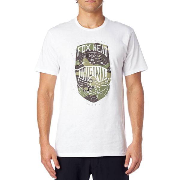 FOX pánské tričko Transparent Ss S bílá