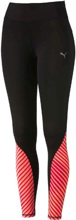 Puma Graphic Tight W Black-Fluro Peach-Rose XS