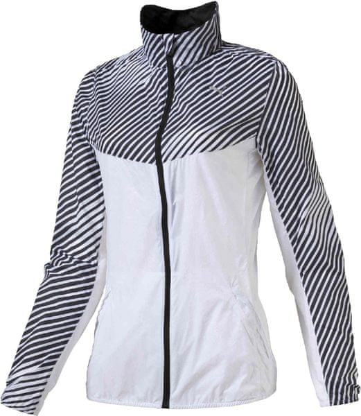 Puma Graphic Woven Jacket W White-Black XS