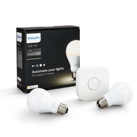 Philips Hue 2 Set E27 White Starter Kit + bridge & Bluetooth