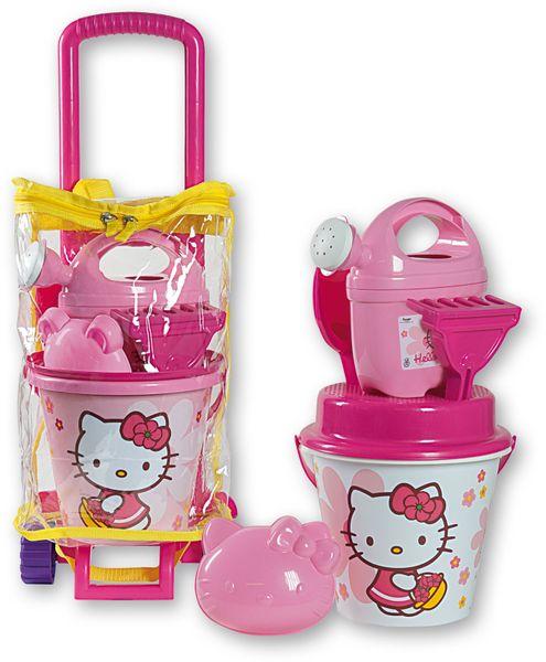 Androni Set na písek - taška na kolečkách Hello Kitty