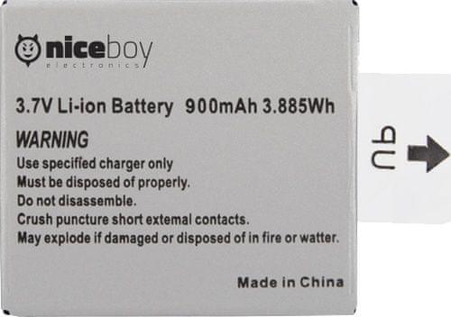 Niceboy Li-ion akumulátor pro kamery Vega, Vega+