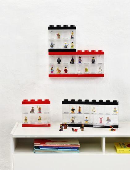 LEGO zbirateljska škatla za 8 mini figuric, rdeča