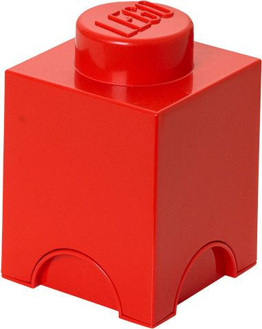 LEGO Úložný box 12x12x18 cm červená