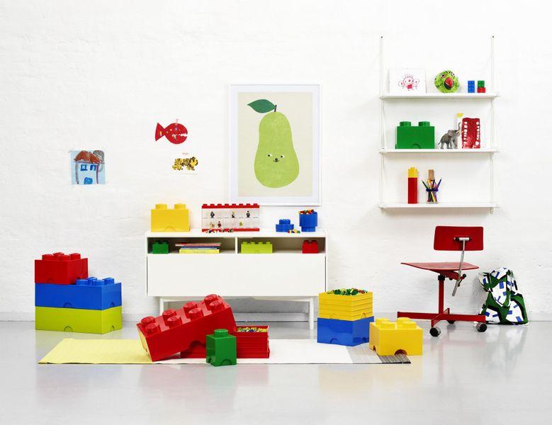 LEGO® Úložný box 12x12x18 cm tmavě zelená