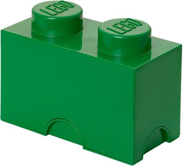 LEGO® Úložný box 125x250x180 mm tmavě zelená