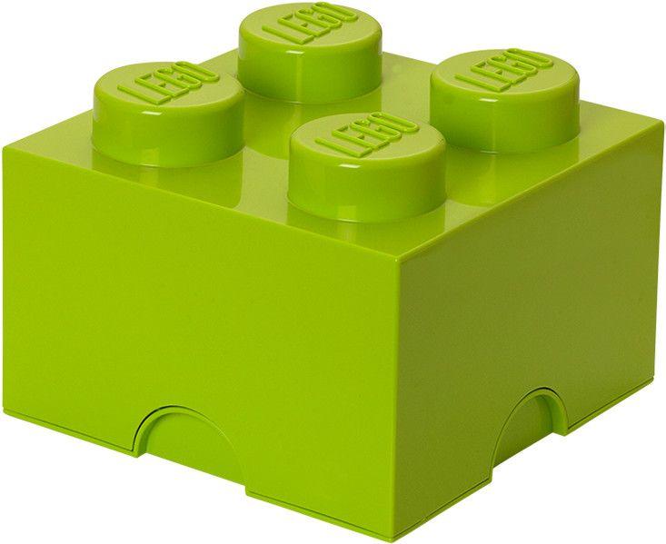 LEGO® Úložný box 250x250x180 mm světle zelená