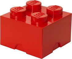 LEGO Úložný box 250x250x180 mm červená