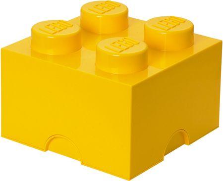 LEGO škatla za shranjevanje 25x25x18 cm, rumena