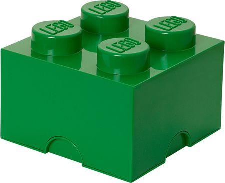 LEGO škatla za shranjevanje 25x25x18 cm, temno zelena