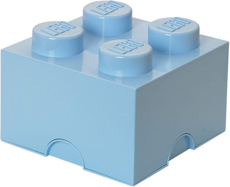 LEGO® Úložný box 250x250x180 mm světle modrá