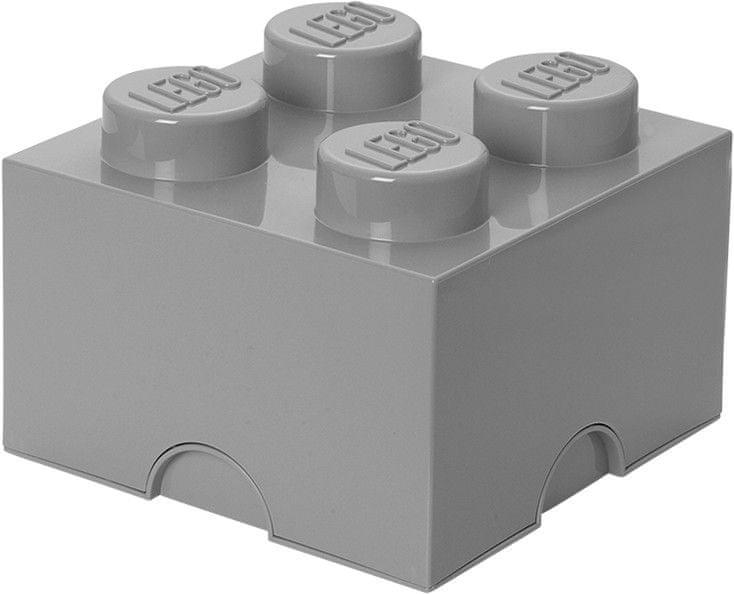 LEGO® Úložný box 250x250x180 mm šedá
