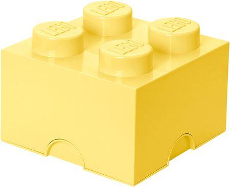 LEGO® škatla za shranjevanje 25x25x18 cm, svetlo rumena