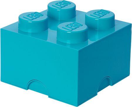LEGO® škatla za shranjevanje 25x25x18 cm, cyan