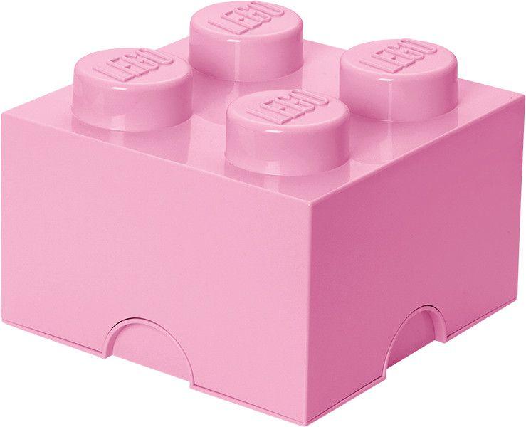 LEGO® Úložný box 250x250x180 mm světle růžová