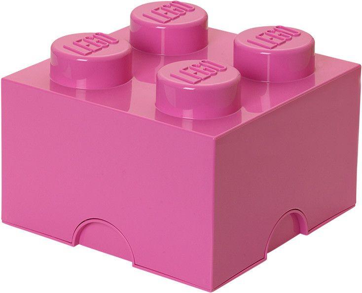 LEGO® Úložný box 250x250x180 mm růžová