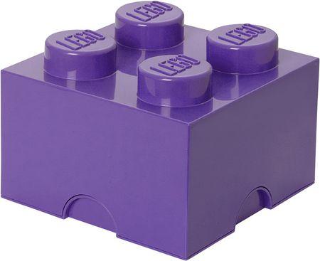 LEGO® škatla za shranjevanje 25x25x18 cm, vijolična