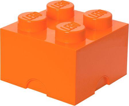 LEGO® škatla za shranjevanje 25x25x18 cm, oranžna