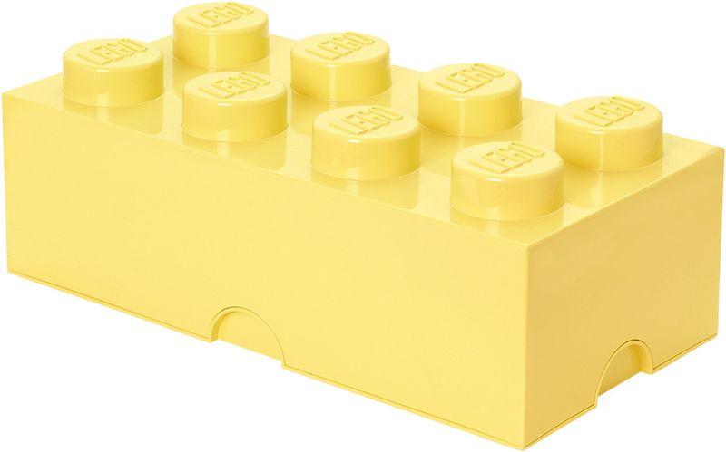 LEGO® Storage box 25x50 cm, světle žlutá